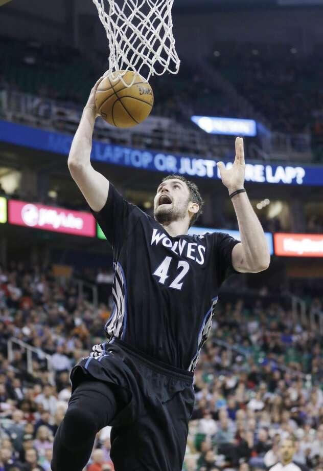Western Conference starterKevin Love Minnesota Timberwolves - forward Votes: 661,246 Photo: Rick Bowmer, Associated Press