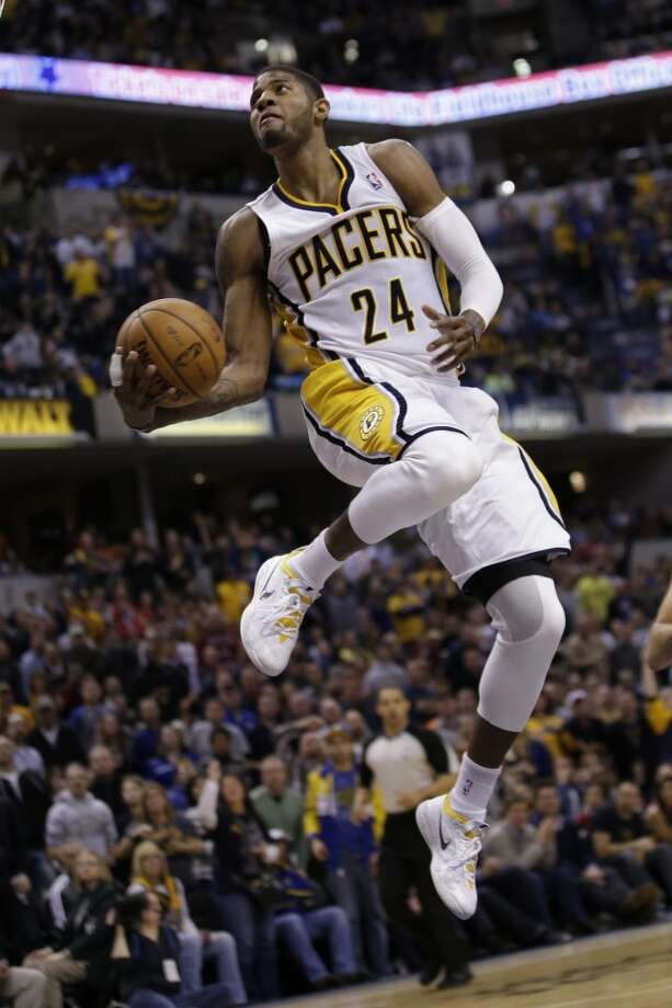 Eastern Conference starter  Paul George Indiana Pacers - forward Votes: 1,211,318 Photo: AJ Mast , Associated Press