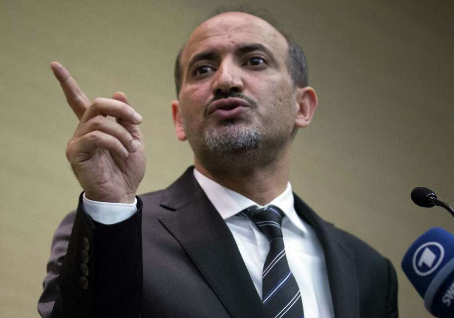Ahmad al-Jarba — leader of the Syrian National Coalition, Syria's main political opposition group — says  President Bashar Assad is now part of the past. Photo: Anja Niedringhaus / Associated Press / AP