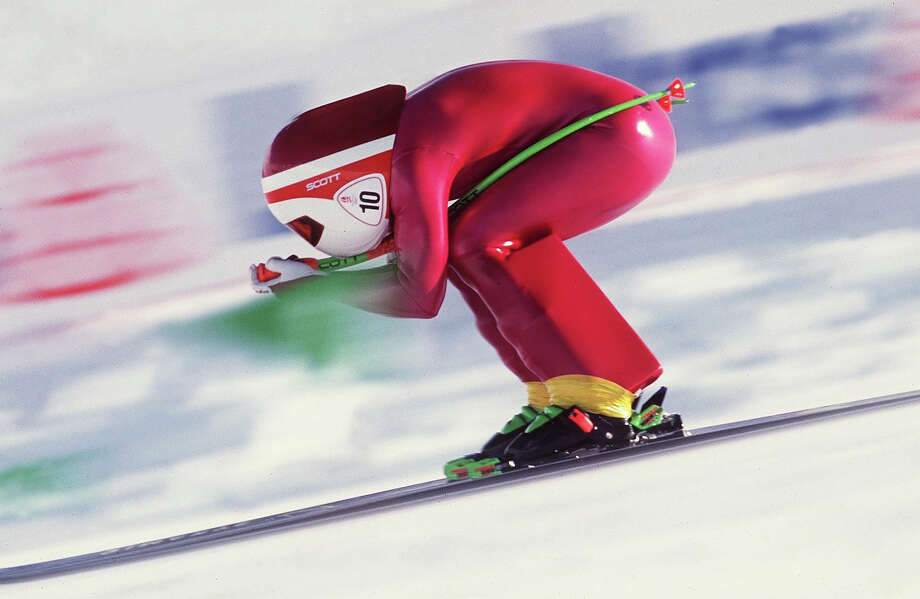 Speed Skiing — demonstration sport in 1992Speed skiing, a/k/a going down a hill really fast in a straight line. Not surprisingly, a guy died and speed skiing never returned to the Olympics. Photo: Bongarts, Bongarts/Getty Images / Bongarts