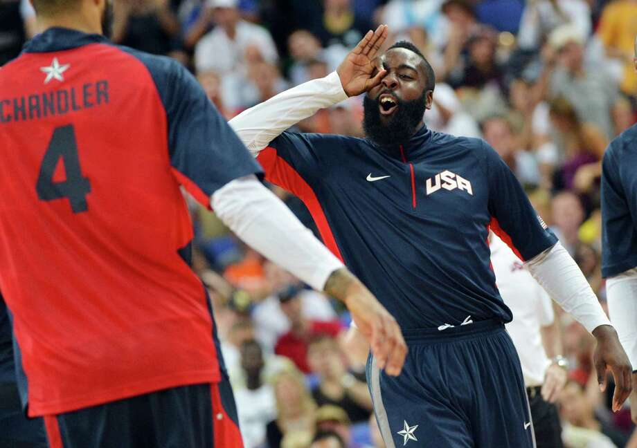 James Harden is no stranger to international play, having won a gold medal with Team USA during the 2012 Olympics in London. Photo: MARK RALSTON, Staff / AFP