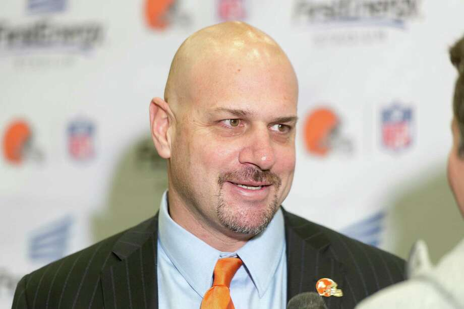 BEREA, OH - JANUARY 23:  Cleveland Browns new head coach Mike Pettine fields questions from the media during a press conference to announce his hiring at the Browns training facility on January 23, 2014 in Berea, Ohio. (Photo by Jason Miller/Getty Images) Photo: Jason Miller, Stringer / 2014 Getty Images