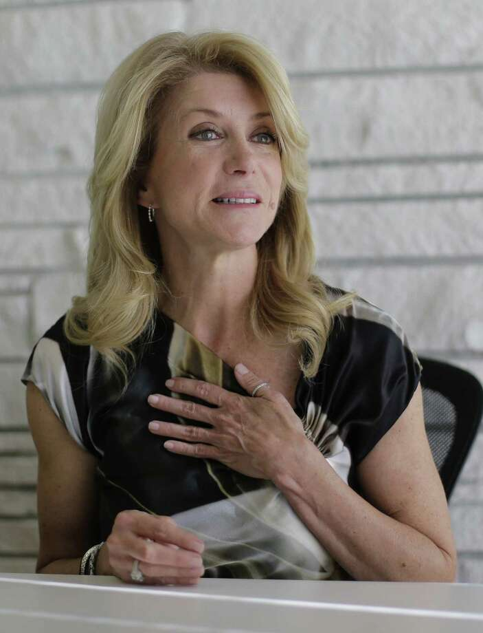 "Sen. Wendy Davis condemns as ""abhorrent"" the language in the video distributed by controversial conservative activist James O'Keefe. Photo: Eric Gay / Associated Press / AP"