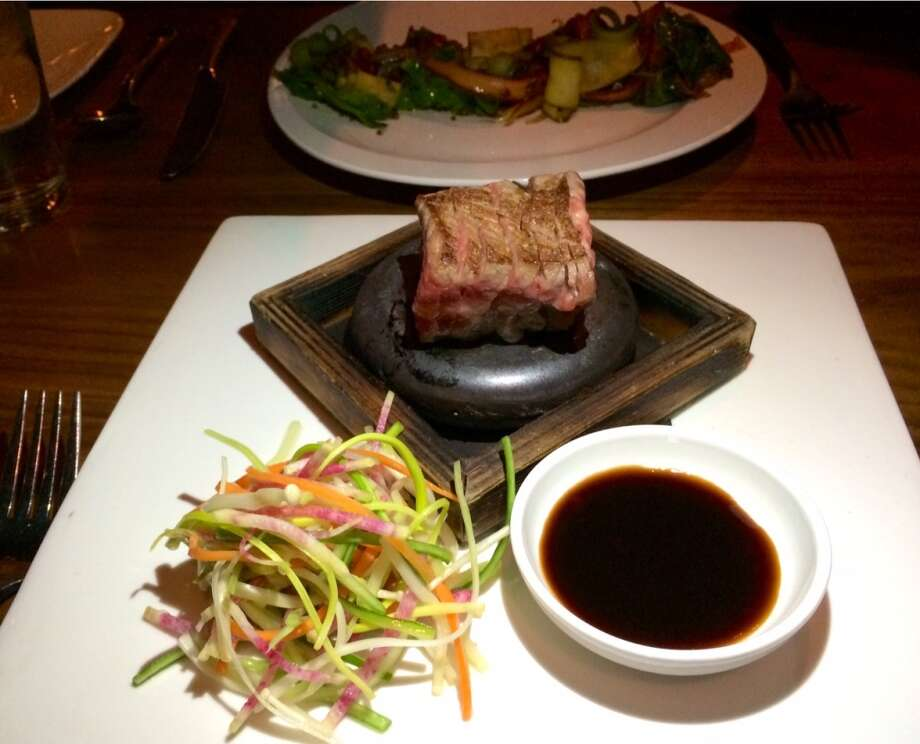 Kobe tri tip on a scalding-hot rock at Chambers ($14)