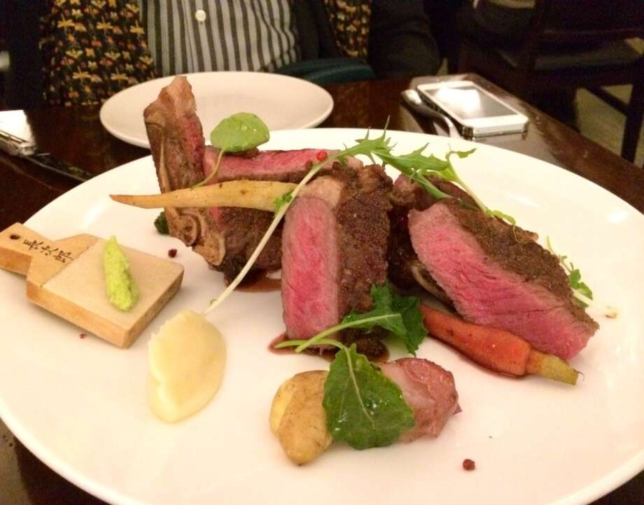 28-day dry aged steak at Iyasare in Berkeley ($38)