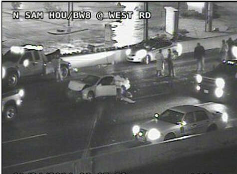 A seven-car wreck was reported on Beltway 8 at West.