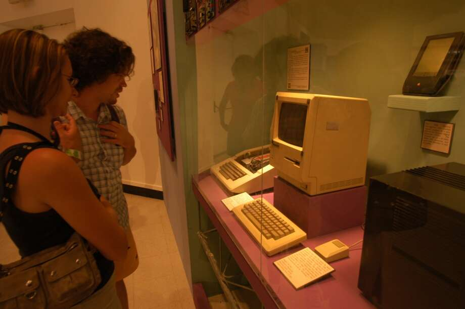 """We were not prepared for it,"" said Tim Bajarin, an industry analyst who started covering Apple in 1981. ""Jobs was the master of secrecy. He swore the team and everybody with death, probably, to keep them from talking about it."" With its place in tech history secure, the first Macintosh went on display, alongside an Apple II, at the 2004 California State Fair. Photo: Spud Hilton, SFC"