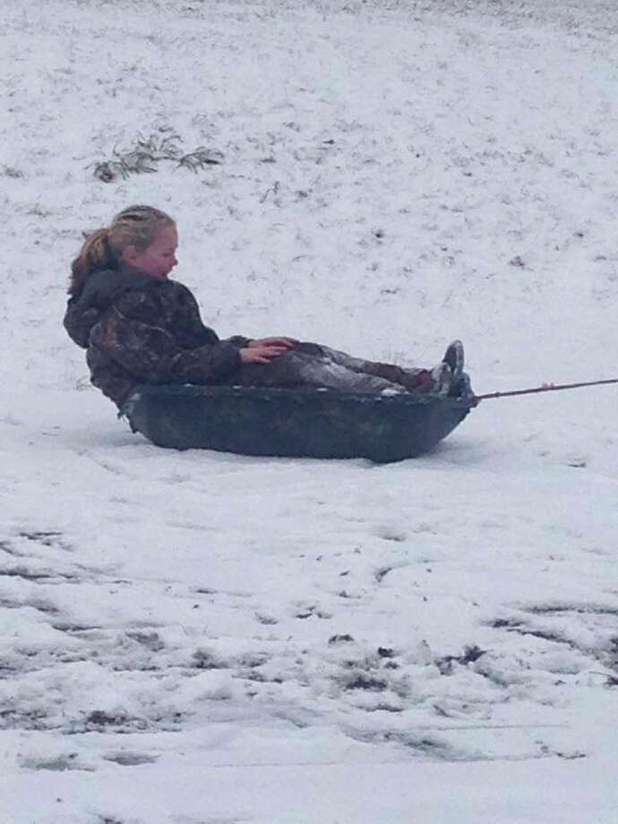 sledding in Jasper