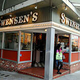 Order an ice cream cone at the first-ever Swensen's on Russian Hill.