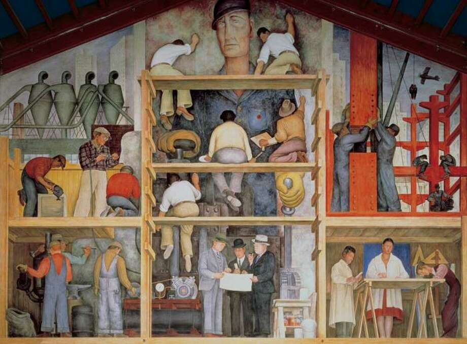 "View the Diego Rivera mural, ""Making a Fresco,"" at the San Francisco Art Institute on Russian Hill. Photo: SFAI"