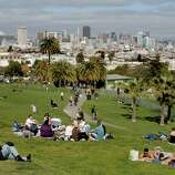 Enjoy a picnic at Dolores Park.