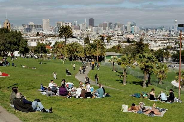 Enjoy a picnic at Dolores Park.