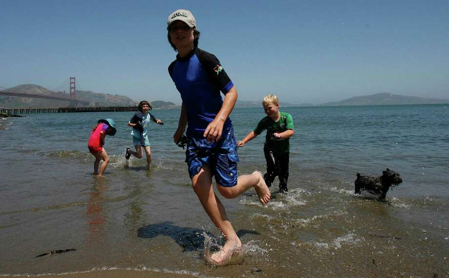 Wade in the Bay at Crissy Field Beach. Photo: Frederic Larson, SFC / The Chronicle