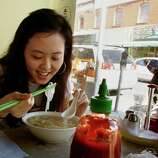 Slurp up a bowl of pho (Vietnamese noodle soup) at Turtle Tower in the Tenderloin.