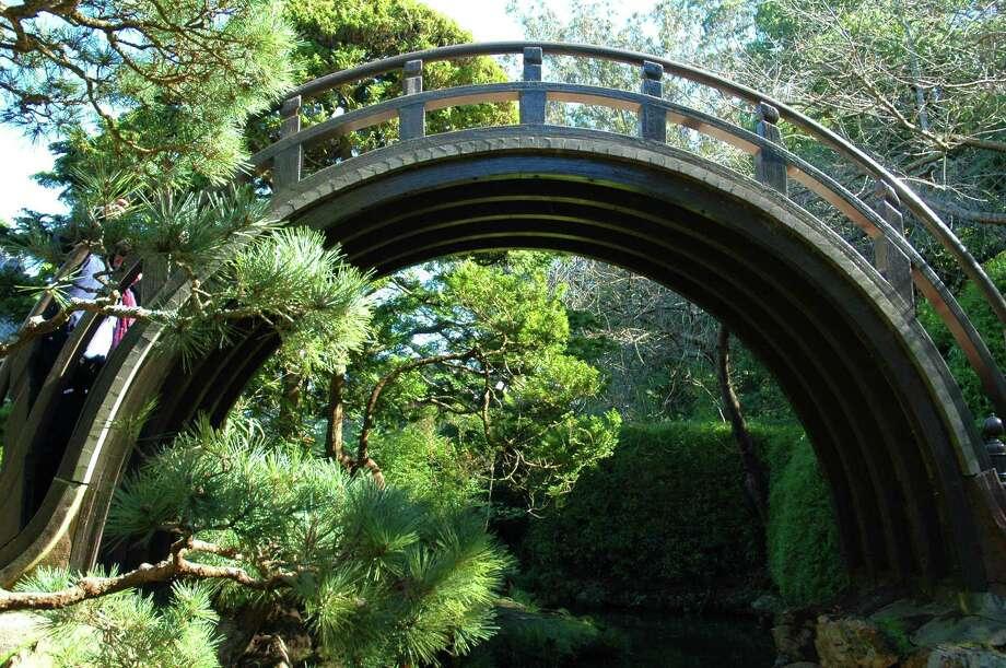 Climb over the moon bridge in the Japanese Tea Garden. Photo: Jared Plutzer