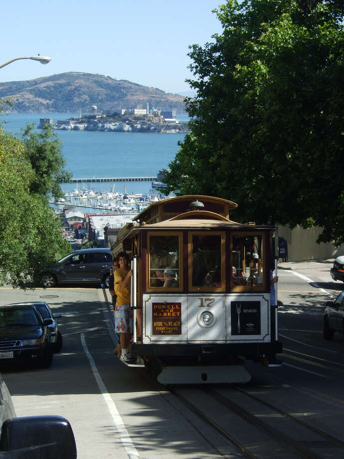 Ride the cable cars all the way from Union Square to Fisherman's Wharf.