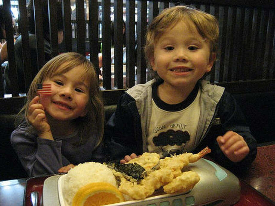 Order the Bullet Train children's meal at Mifune in Japantown. It comes with cold soba noodles and tempura served on a toy train. Photo: Flickr, Mary Tsao