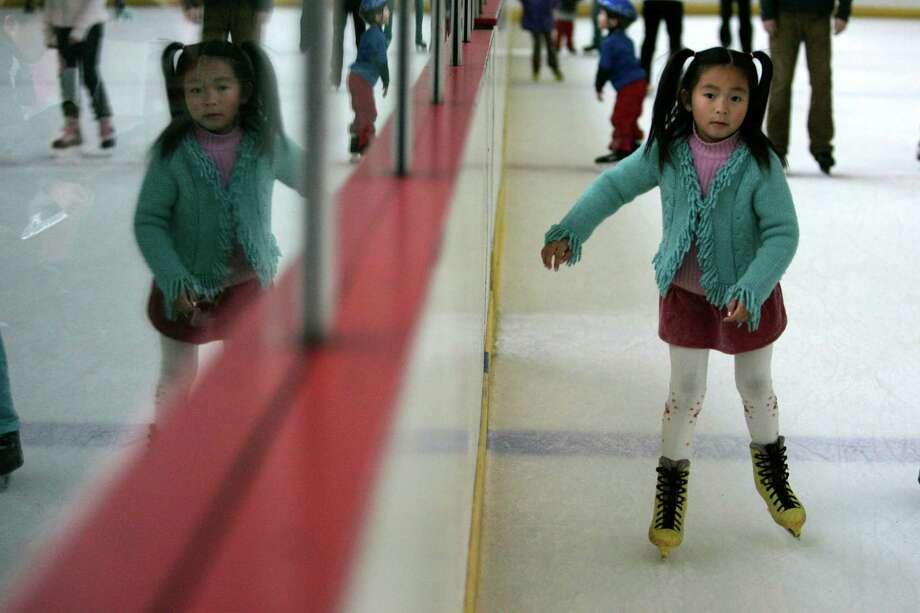 Glide across the ice at the Yerba Buena Ice Skating Center. Photo: Lea Suzuki, SFC