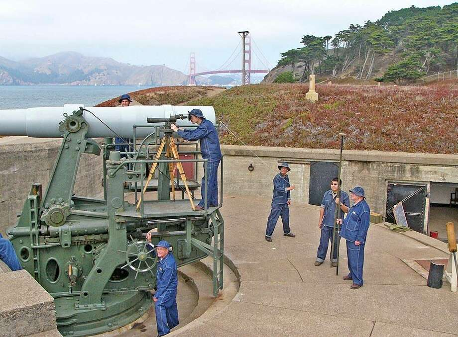 "Check out the Golden Gate National Recreation Area's Battery Chamberlin, the last six-inch ""disappearing gun"" of its type on the West Coast. On the first full weekend of each month, take part in demonstrations of the gun. Photo: Will Elder"