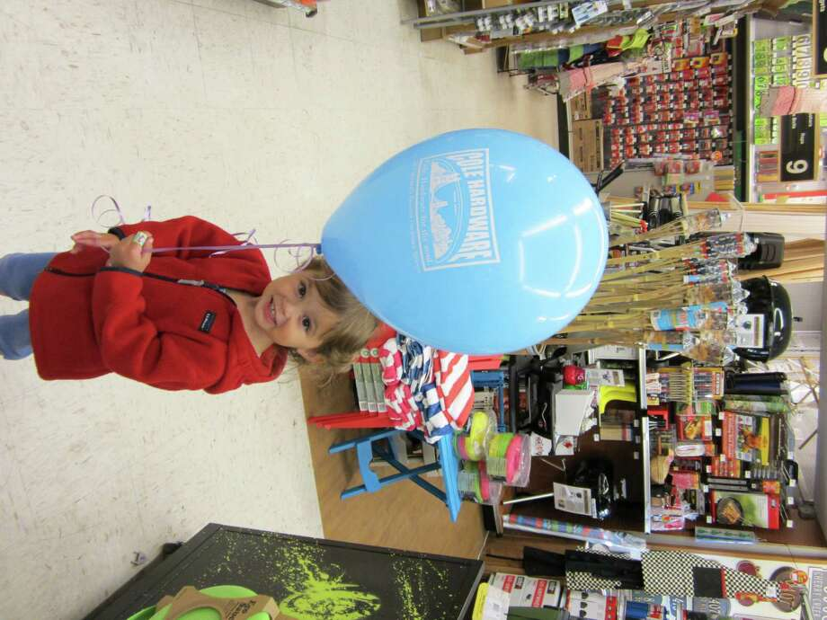 Get a free balloon at one of the cities many Cole Hardware stores. Photo: Julia Strzesieski