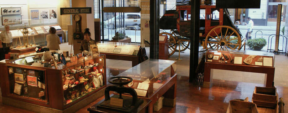 See a Concord Coach used by Wells Fargo in the 1860s at the Wells Fargo History Museum on Montgomery. Photo: Wells Fargo