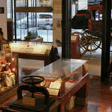 See a Concord Coach used by Wells Fargo in the 1860s at the Wells Fargo History Museum on Montgomery.