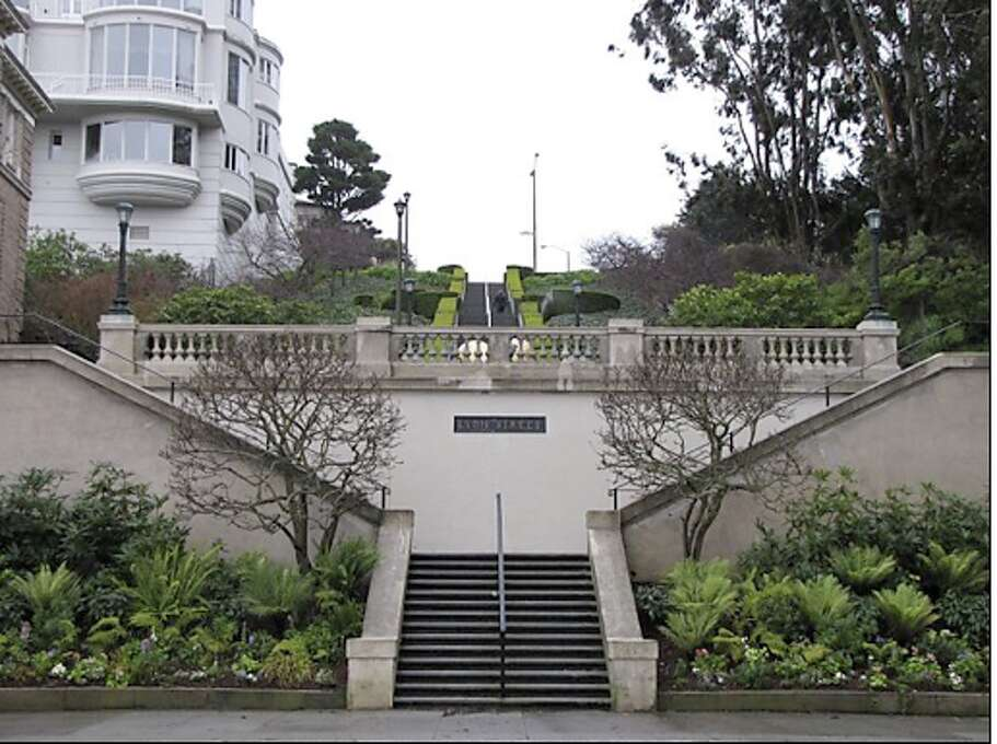 Walk down–or up–the Lyon Street Steps in Pacific Heights. Photo: Stephanie Wright Hession