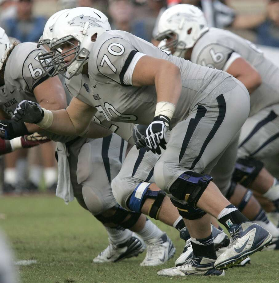 "South team Joel Bitonio, OG, Nevada 6'4"" 315 pounds  22 years old Bitonio was named Nevada's Basalite Big Blocker of the Year as he capped his career with an outstanding season. Photo: Steve Cannon, Associated Press"