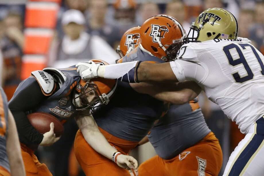 """North teamAaron Donald, DT, Pitt 6'0"""" 285 pounds 22 years old Donald was named the ACC Defensive Player of the Year and led the nation in tackles for loss. He was also named the Nation's Most Outstanding Defensive Player among numerous other awards. Photo: Carlos Osorio, Associated Press"""