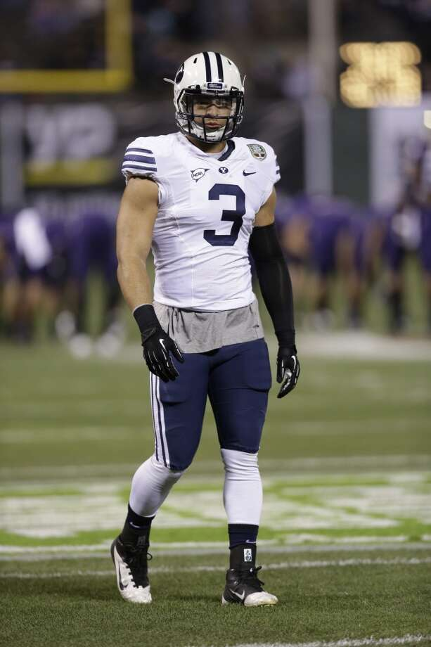 "South team Kyle Van Noy, OLB, BYU 6'3"" 225 pounds 22 years old Van Noy was a semifinalist for numerous national recognition awards while being named the player of the week multiple times and finished second in voting for midseason Defensive Player of the Year. Photo: Marcio Jose Sanchez, Associated Press"
