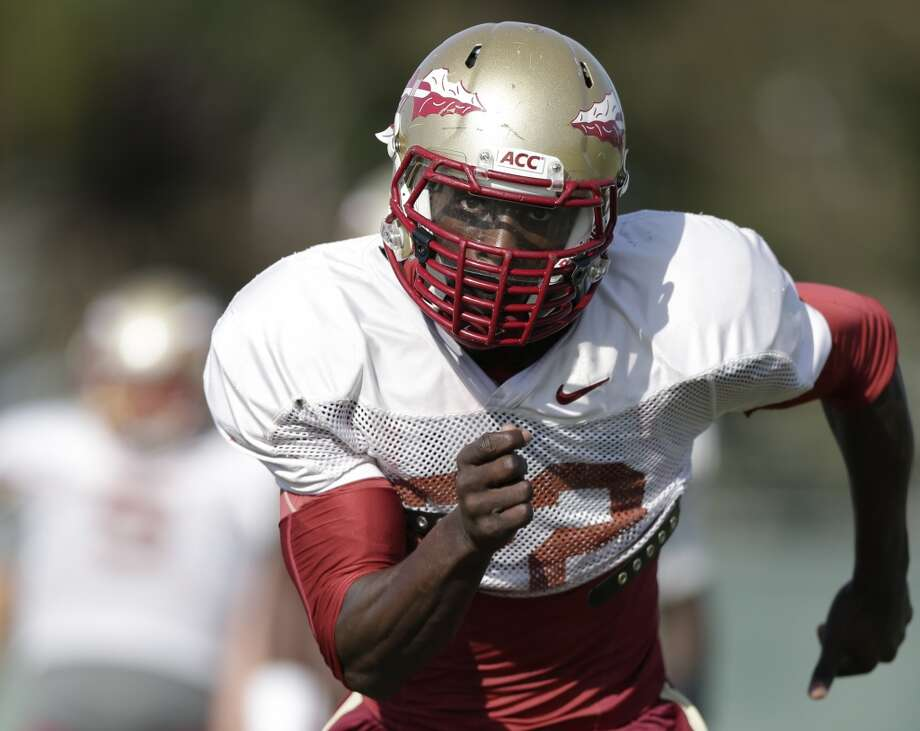 "South team Telvin Smith, OLB, Florida State 6'3"" 218 pounds 22 years old FSU's leading tackler (90) had the game of his life, recording a career-best 15 tackles, to lead FSU past Auburn in the national championship game. Was a leader on the No. 1 ranked defense in college football. Photo: Gregory Bull, Associated Press"