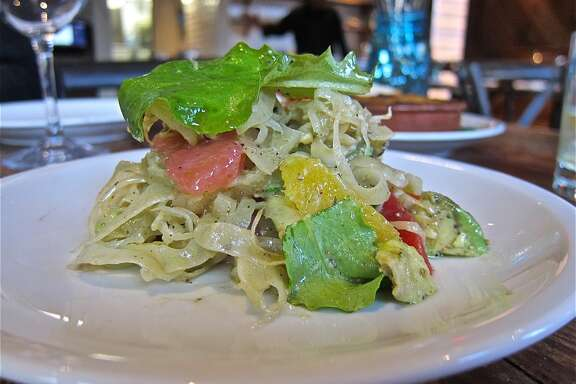 Salad of fennel, avocado, chile & local citrus at Coltivare.