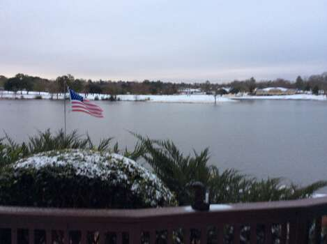 The Elkins Lake subdivision in Huntsville saw light snow Friday, Jan. 24, 2014. (Submitted by Al Sailer)