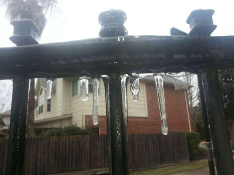 Icicles are shown in Katy on Friday, Jan. 24, 2014. (Submitted by Natalie White)