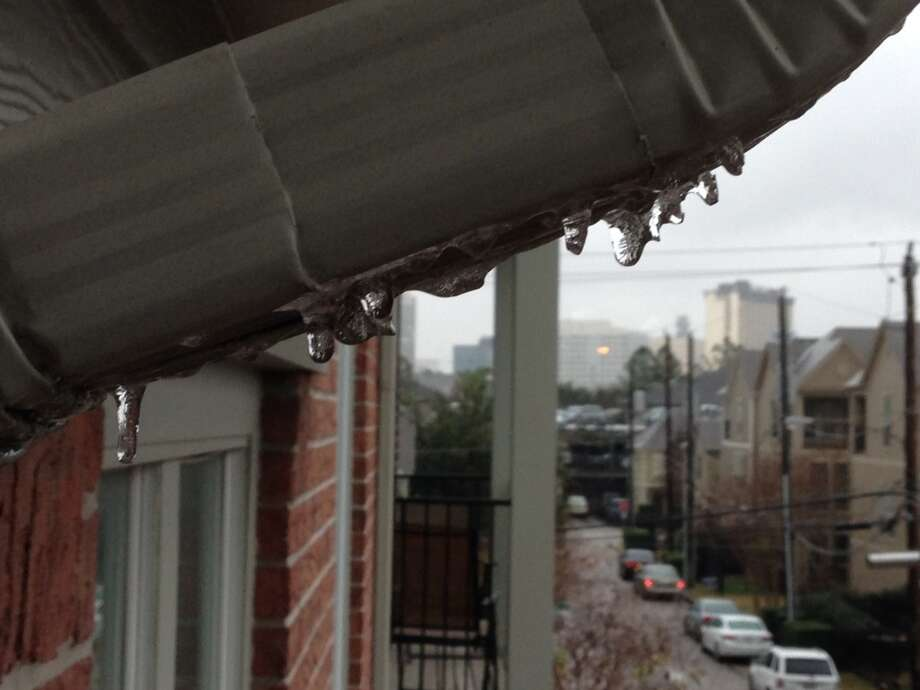 Ice is shown at a Montrose apartment complex Friday, Jan. 24, 2014. (Submitted by Dan Bucci)