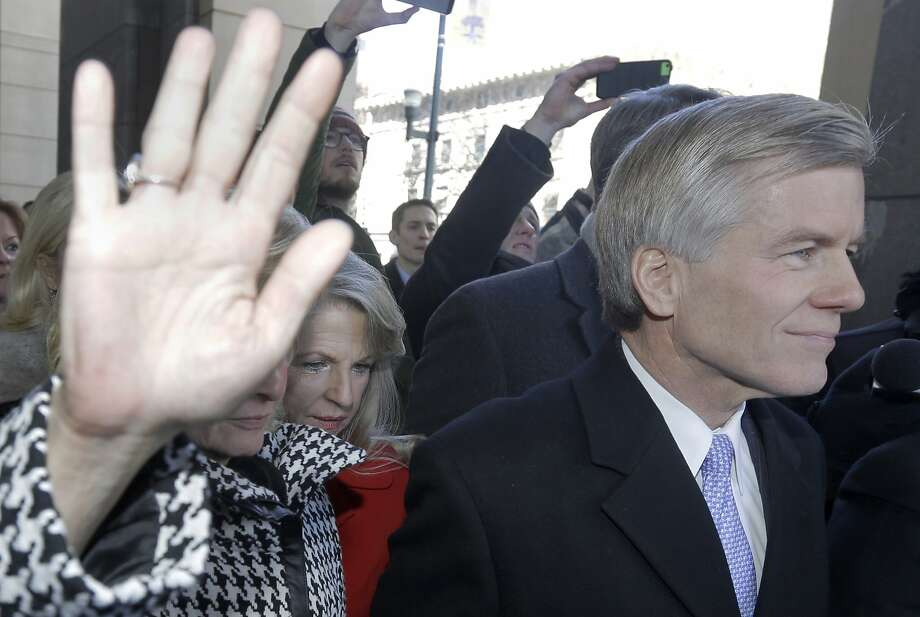 Former Gov. Bob McDonnell (right) and his wife, Maureen, are accused of trading their influence for gifts and loans. Photo: Steve Helber, Associated Press