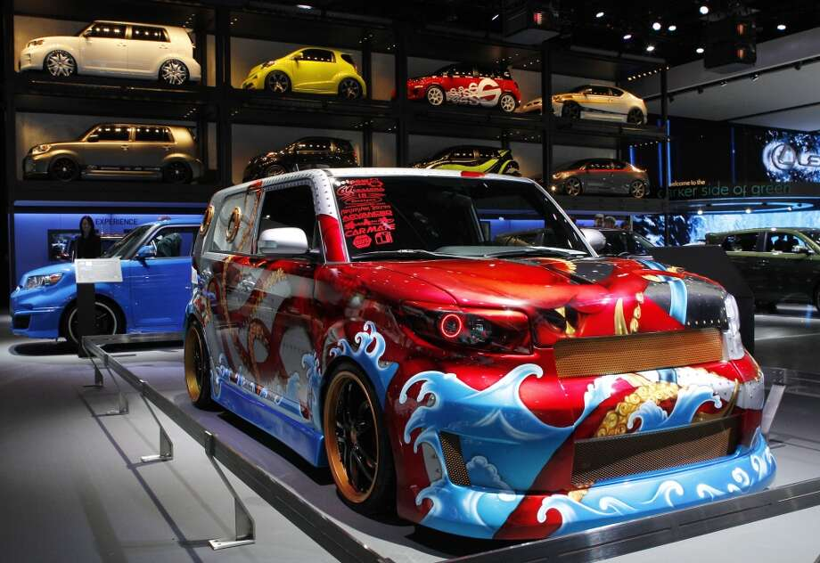 A custom Scion xB ìThe Squidî by The Salty Dogs is shown at the North American International Auto Show in Detroit. Photo: Paul Sancya, AP