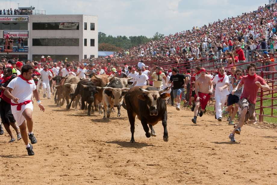 Houstonians attending the Great Bull Run this weekend can expect scenes similar to these previous Great Bull Run events.