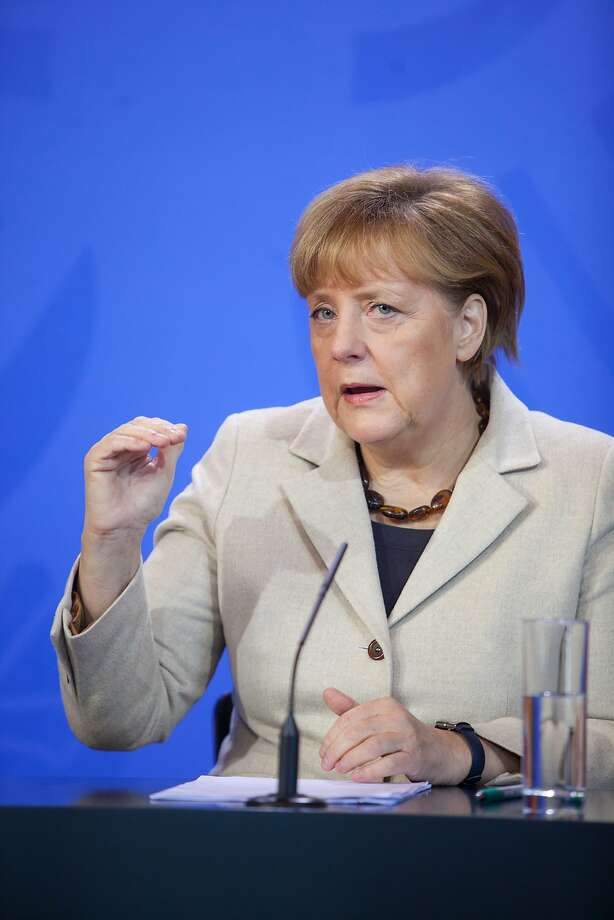 German Chancellor Angela Merkel's clean-energy tax plan would be the first in Europe. Photo: Krisztian Bocsi, Bloomberg