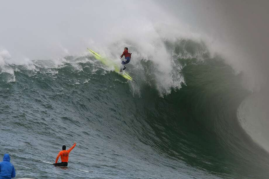 Anthony Tashnick wipes out during Semi finals round 1 of the 2014 Maverick's Invitational surf contest held in Half Moon Bay, CA, Friday, January 24, 2014. Photo: Michael Short, The Chronicle