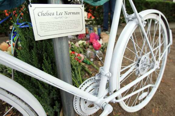 This memorial sprang up after Chelsea Norman, 24, was killed by a hit-and-run driver Dec. 1 as she was riding home from her job at Whole Foods. Bicyclists Stephen Belle (Dec. 20) and Nabor Rosas-Inclan (Jan. 12) also were killed by drivers who didn't stop.