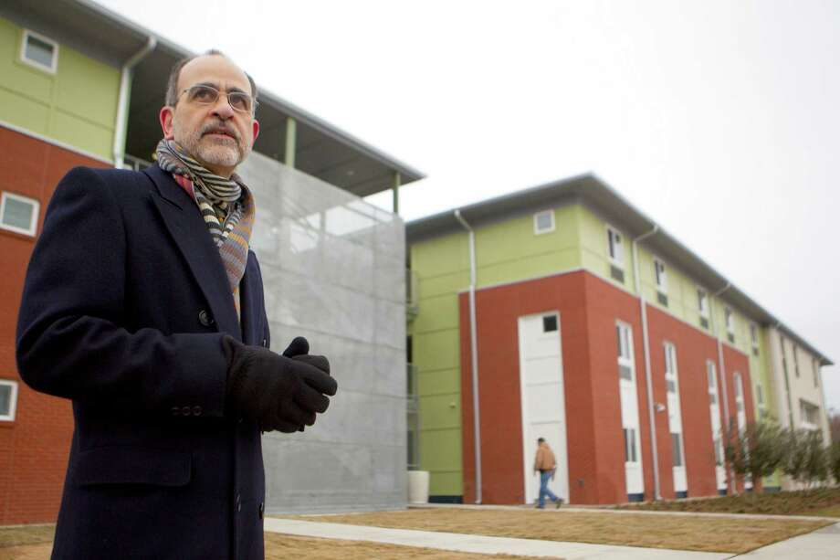Ernesto Maldonado, an architect with the firm Glassman Shoemake Maldonado Architects, designed 577 Rittenhouse, a low-income housing development. Photo: Johnny Hanson, Staff / Houston Chronicle