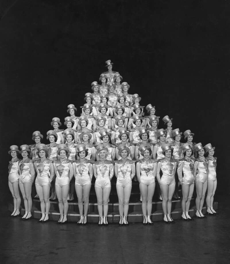 The Rockettes of Radio City Music Hall pictured at the Rockefeller Center in New York City, New York, USA, circa 1940. The Rockettes are a well-known precision dance company performing out of the Radio City Music Hall in Manhattan, New York City. Photo: Pictorial Parade, Getty Images