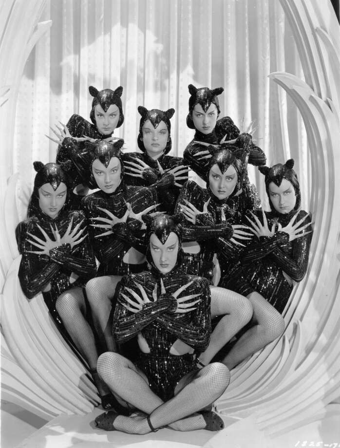 1946:  The Ziegfeld Girls in panther costume as they appear in the film 'Ziegfeld Follies', a spectacular revue depicted as a dream sequence in heaven, dreamt by Florenz Ziegfeld. The film was directed by Vincente Minnelli for MGM. Photo: Hulton Archive, Getty Images