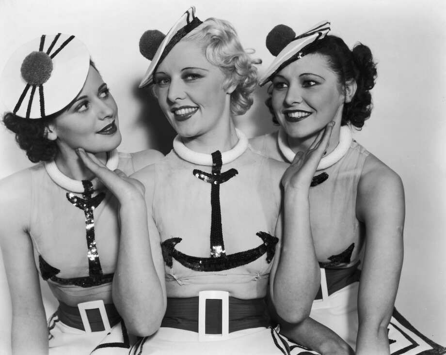 Three young starlets from the Charles B. Cochran musical comedy 'Anything Goes', on stage at the Palace Theatre, London, 1935. Photo: Sean Sexton, Getty Images