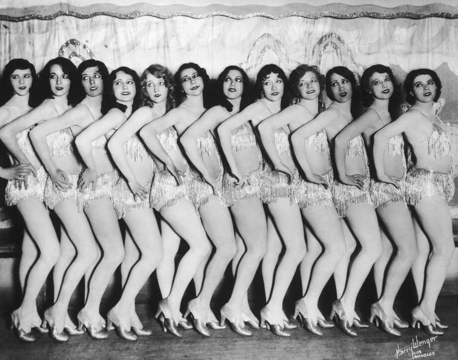 A group of chorus girls in sparkly costumes, circa 1925. Photo: FPG, Getty Images