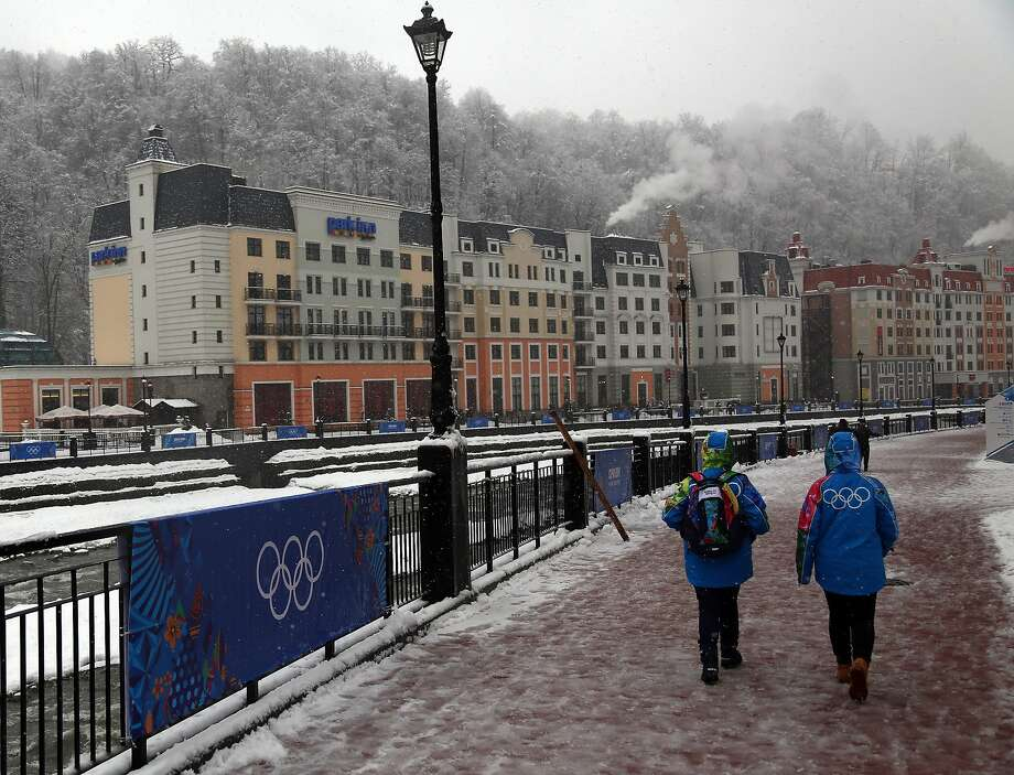 Rosa Khutor, Russia, will host skiing for the Sochi Olympics. Terror threats and lack of hotels are among the reason few Americans are expected to attend. Photo: Michael Heiman, Getty Images