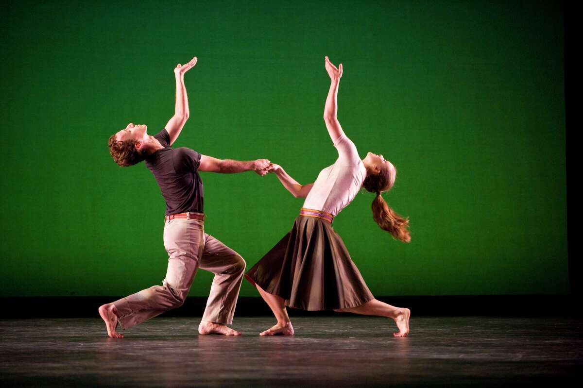 """Dancers from Mark Morris Dance Group performing """"Festival Dance,"""" one of the works on the program when Society for the Performing Arts presents the company Jan. 31 and Feb. 1 at the Wortham Theater Center. MARK MORRIS DANCE GROUP"""