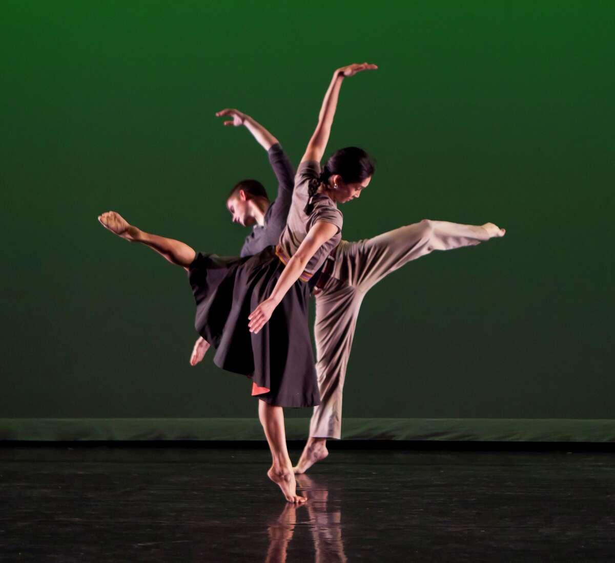 """Dancers from Mark Morris Dance Group performing """"Festival Dance,"""" one of the works on the program when Society for the Performing Arts presents the company Jan. 31 and Feb. 1 at the Wortham Theater Center. Photo: Mark Morris Dance Company in """"The Muir""""; """"Petrichor"""" & """"Festival Dance (World Premiere)""""; MARK MORRIS, Choreographer/Artistic Director; invited dress rehearsal photographed: Wednesday, March 16, 2011; 4:00 PM at Mark Morris Dance Center; 3 Lafayett"""