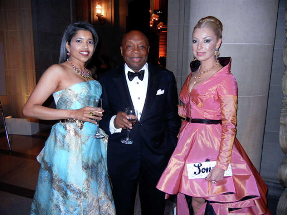 Deepa Pakianathan (at left, in Rubin Singer), Willie Brown and Sonya Molodetskaya (in Vasily Vein) at the Ballet gala Photo: Catherine Bigelow